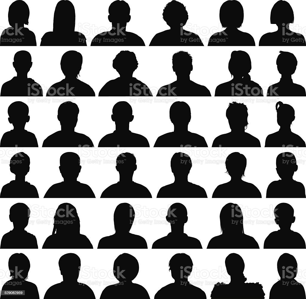 Heads and Shoulders vector art illustration