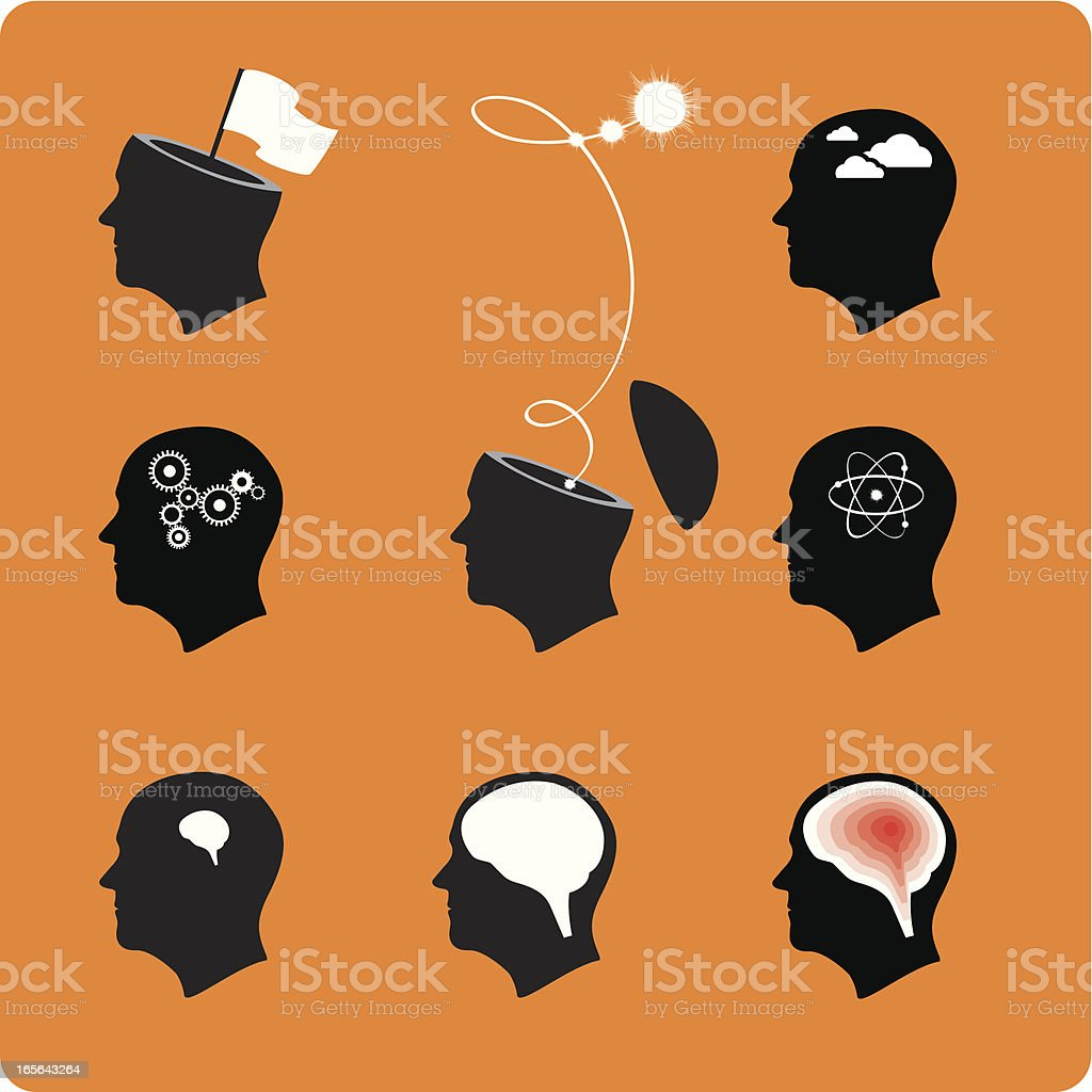 heads! royalty-free stock vector art