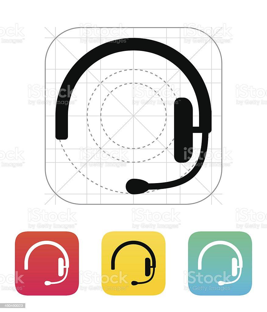 Headset icon. vector art illustration