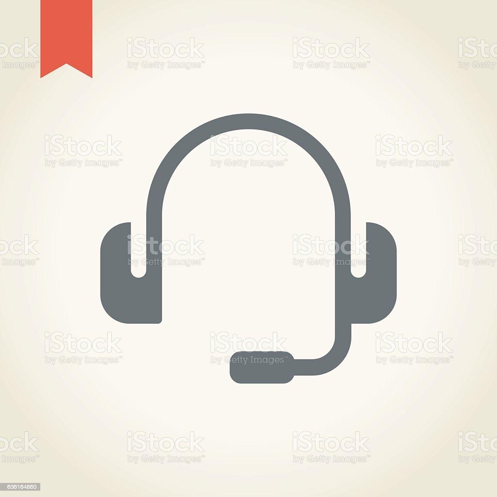 Headset icon vector art illustration