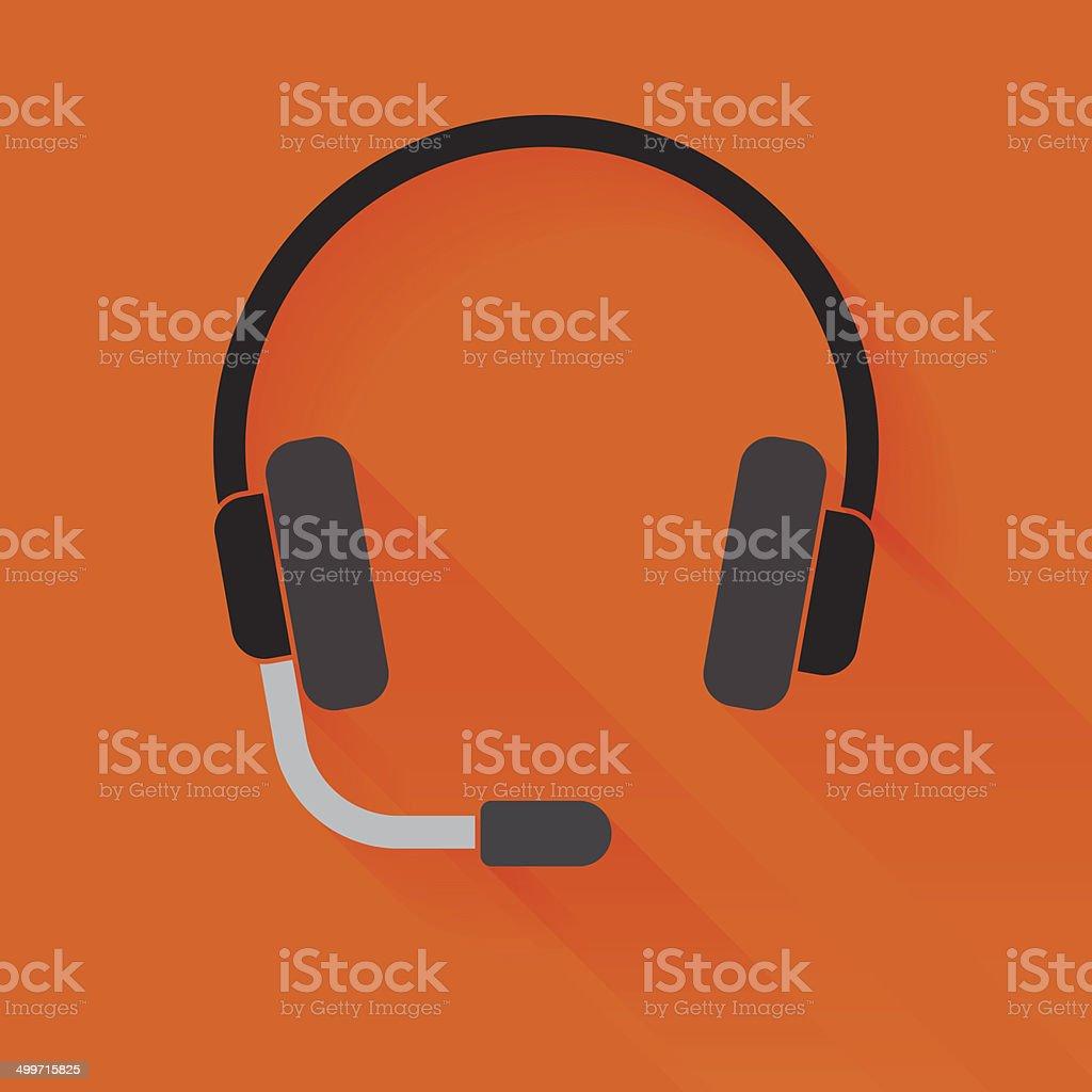 Headset vector art illustration