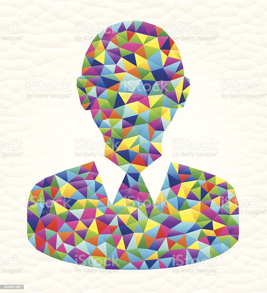 Headshot on triangular pattern mosaic royalty free vector art royalty-free stock vector art