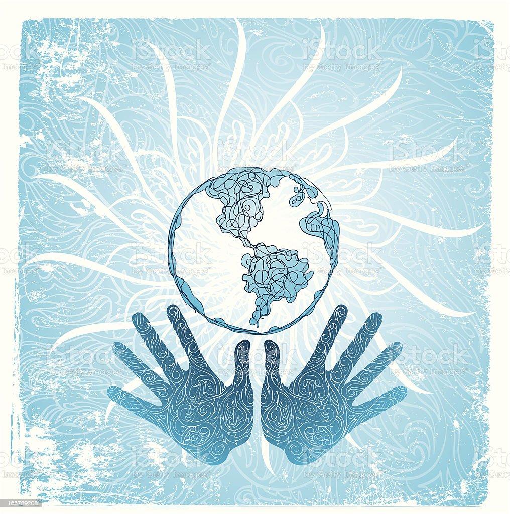 heal the Earth royalty-free stock vector art
