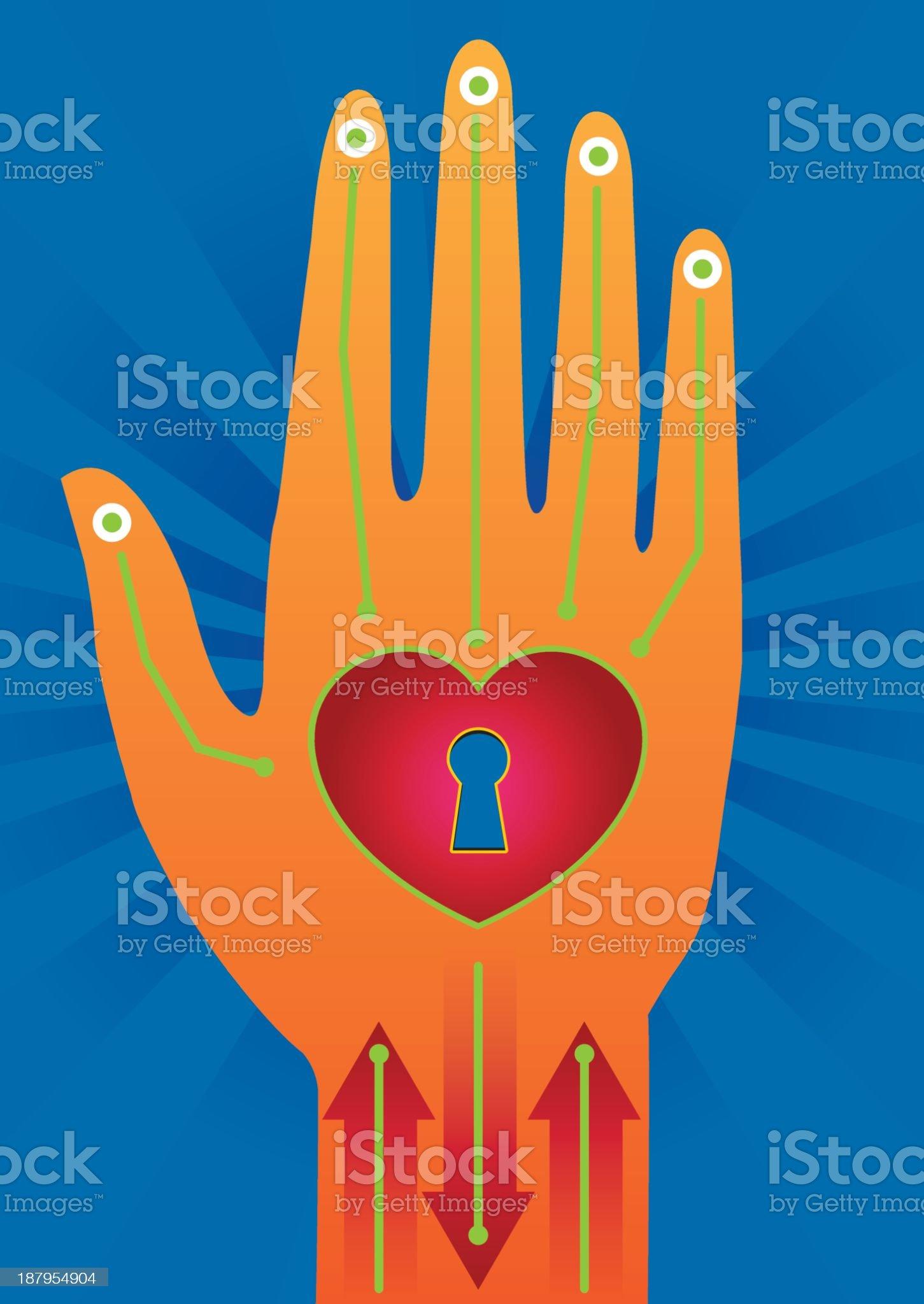 healing hand royalty-free stock vector art