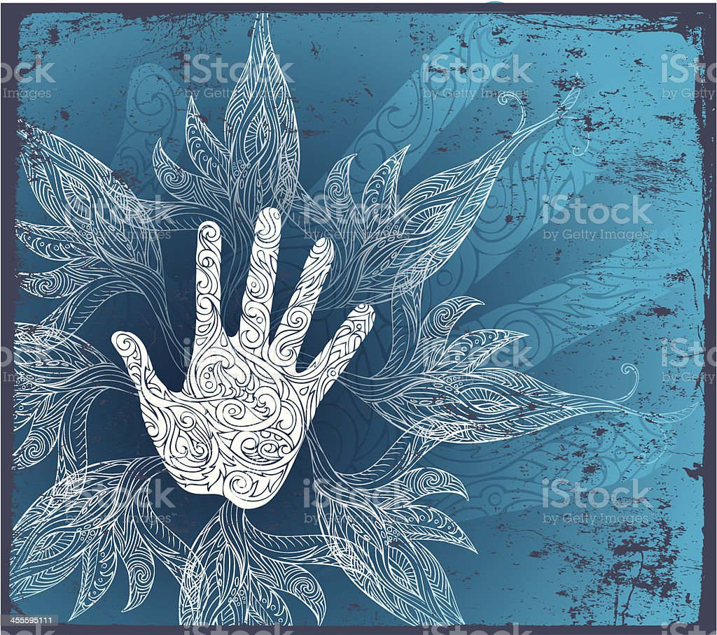 healing touch vector art illustration