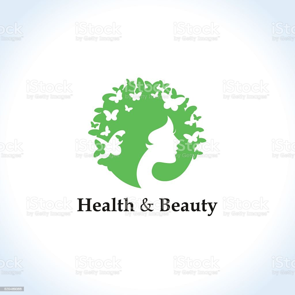 Health and beauty concept vector art illustration