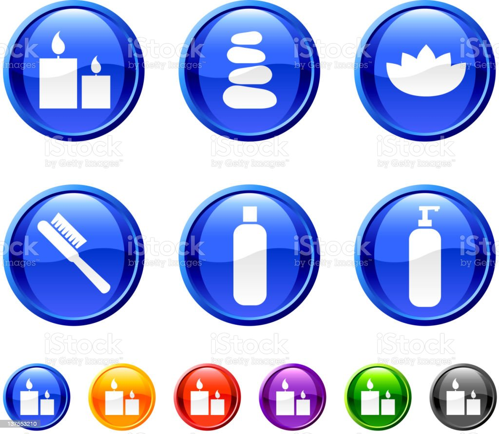 health and beauty products button royalty free vector art vector art illustration