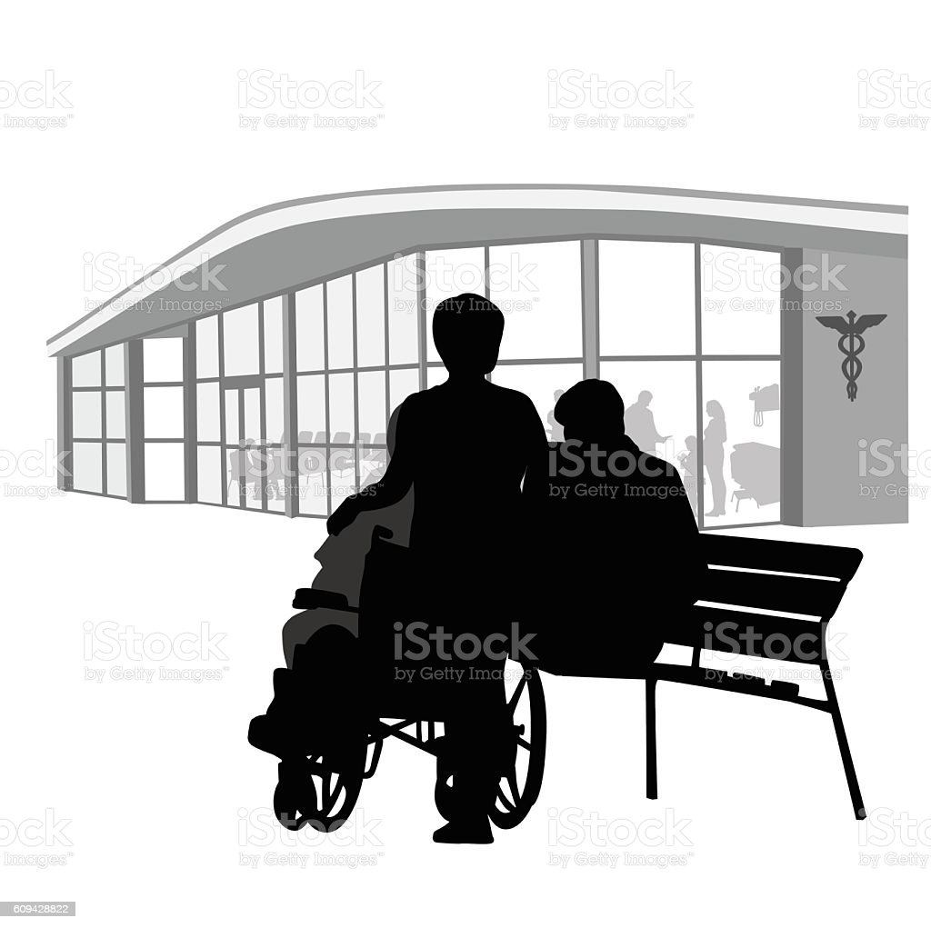Health And Family Members Vector Silhouette vector art illustration