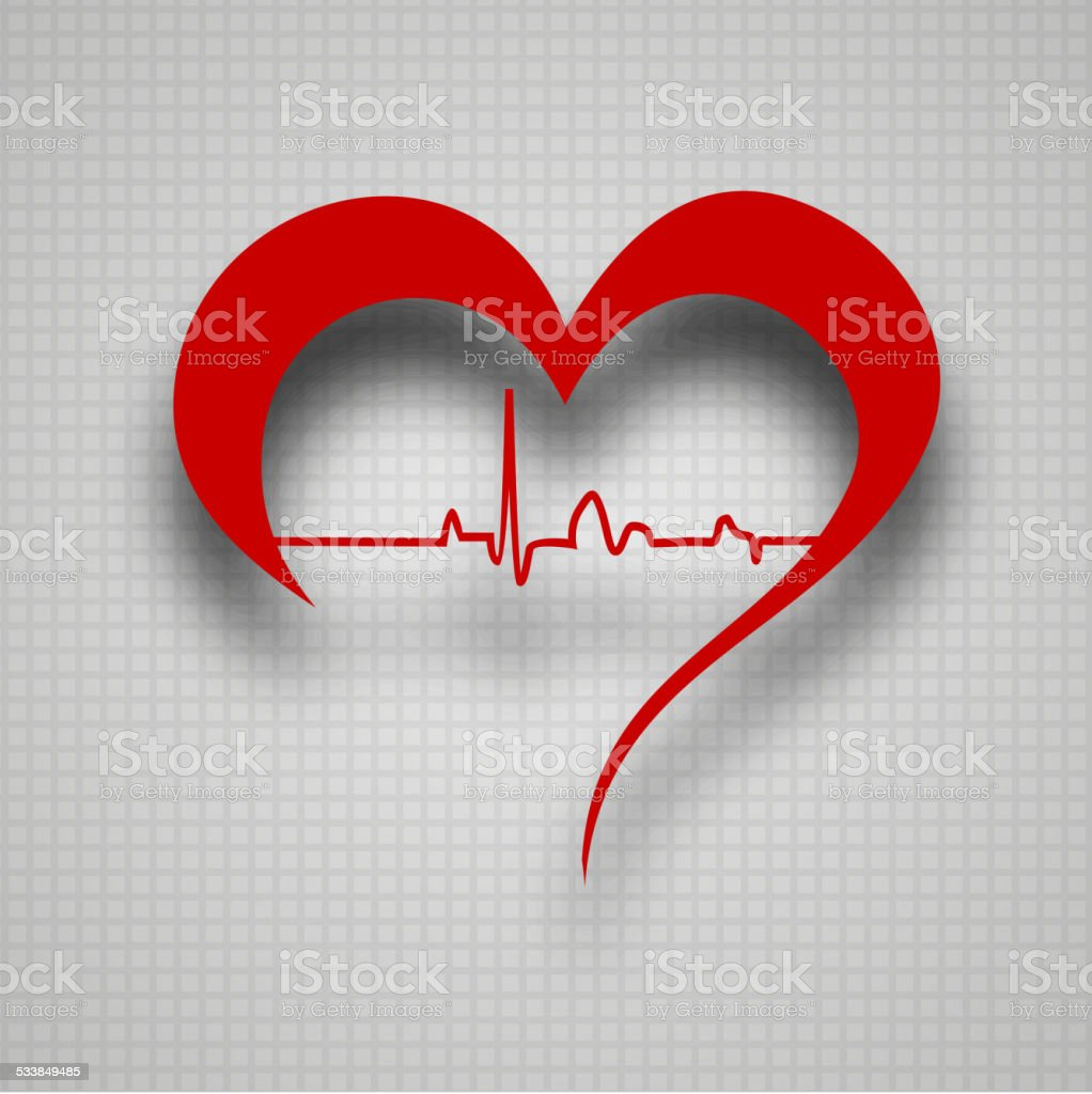 Health and medical concept with heart structure. vector art illustration