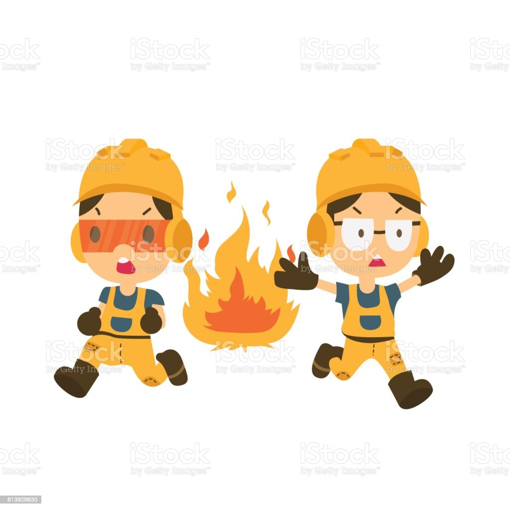 health and safety, character vector art illustration