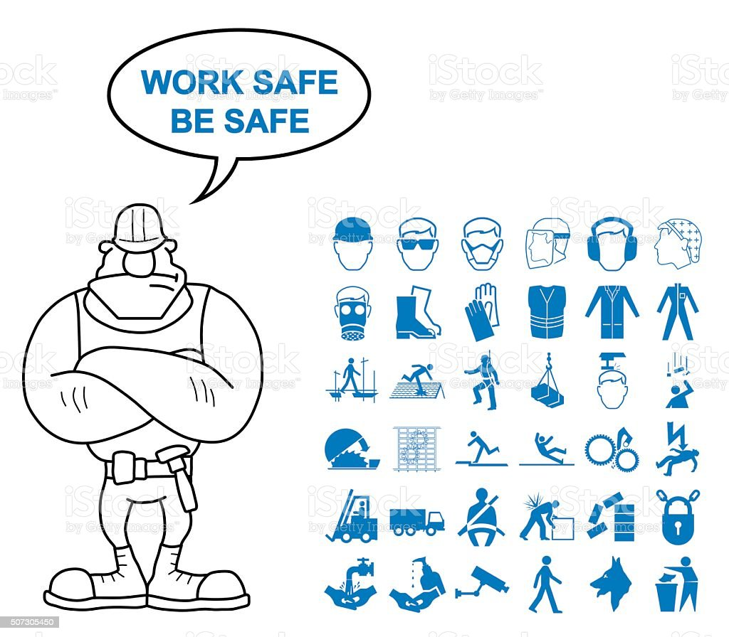 Health and Safety Graphics vector art illustration