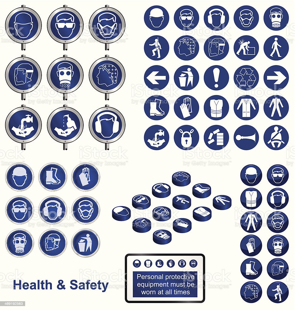 Health and Safety vector art illustration