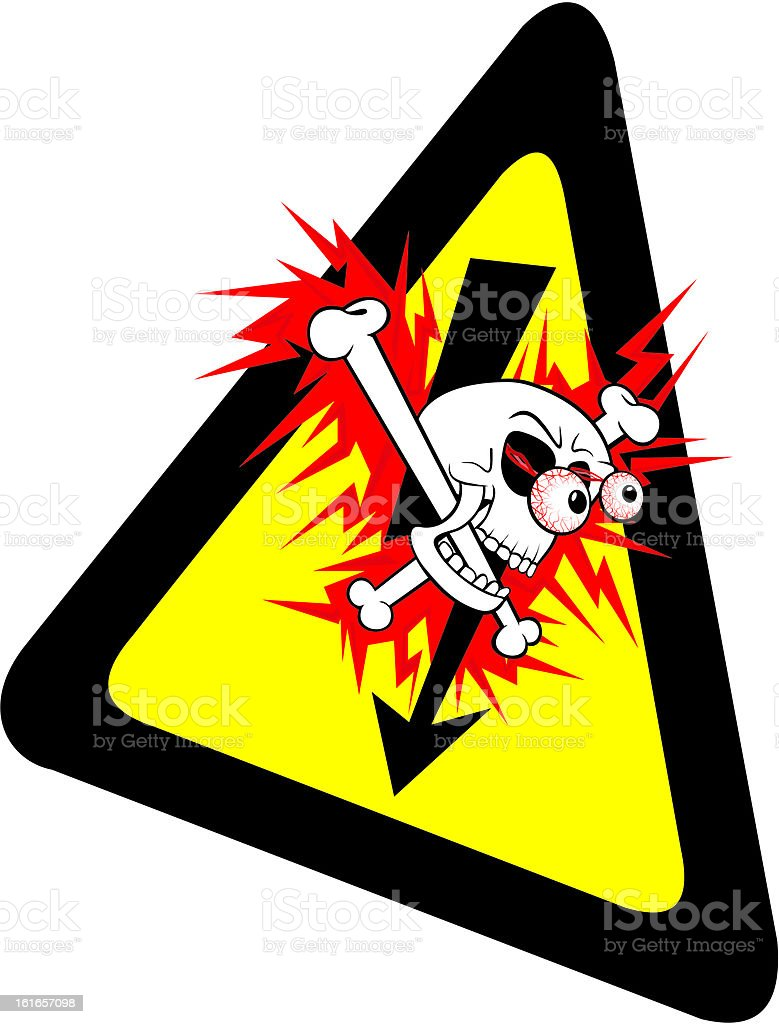 health and safety - warning sign royalty-free stock vector art