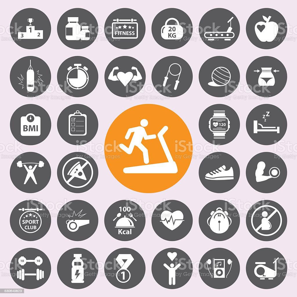 Health andFitness icon set.Vector/EPS10. vector art illustration