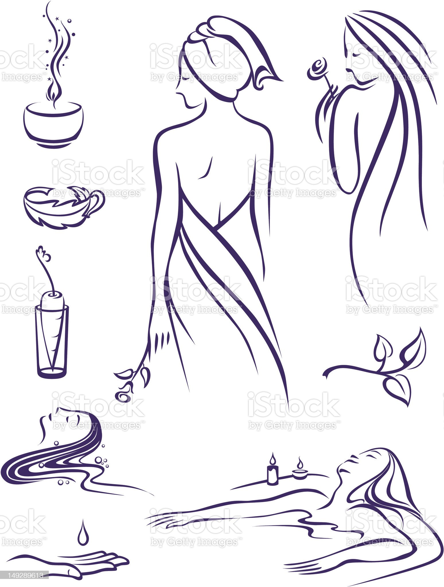Health Beauty Spa royalty-free stock vector art