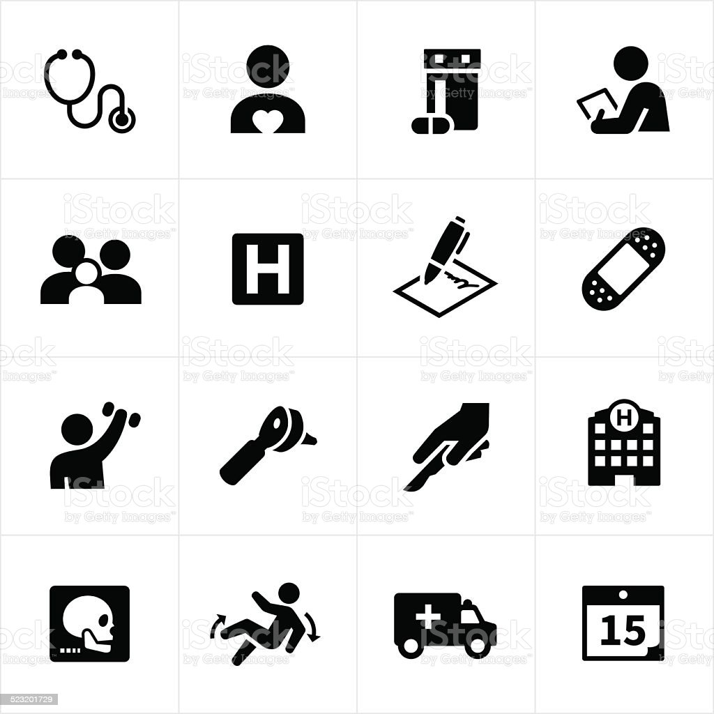 Health Care and Wellness Icons vector art illustration