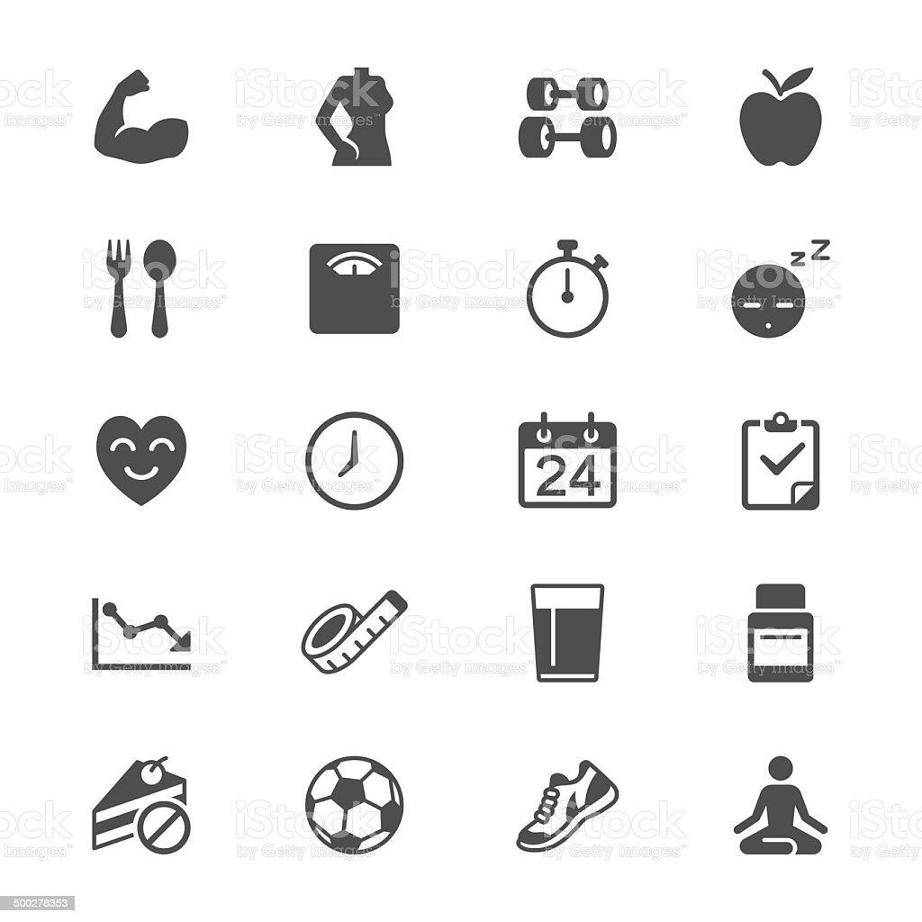 Health care flat icons vector art illustration