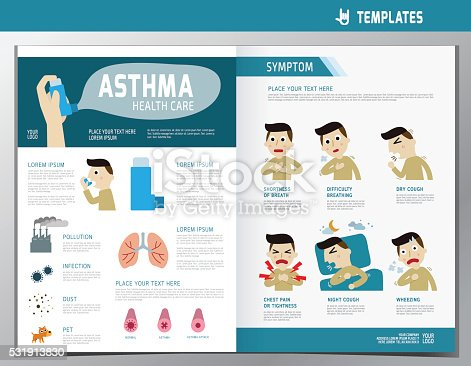 Health Care Flyer Leaflet Brochure Template A4 Size Stock Vector