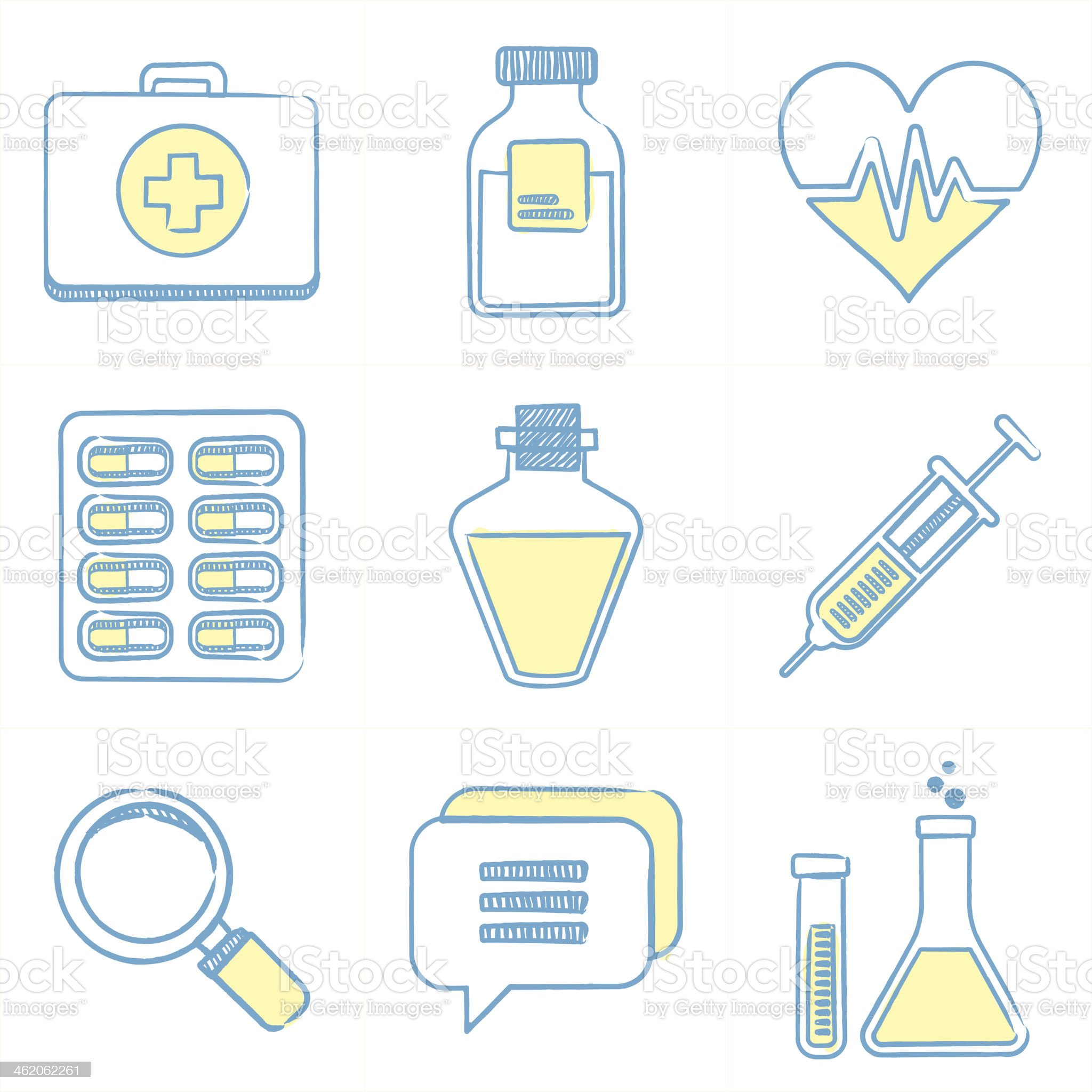 Health Care Icons royalty-free stock vector art