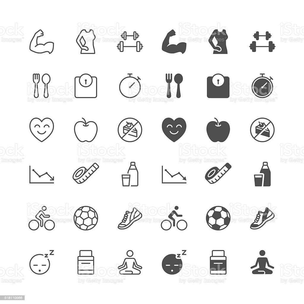 Health care icons vector art illustration