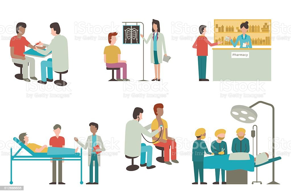 Health care set vector art illustration