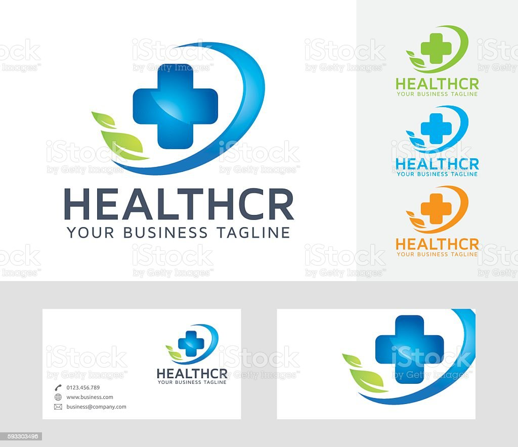 Health Care vector logo vector art illustration