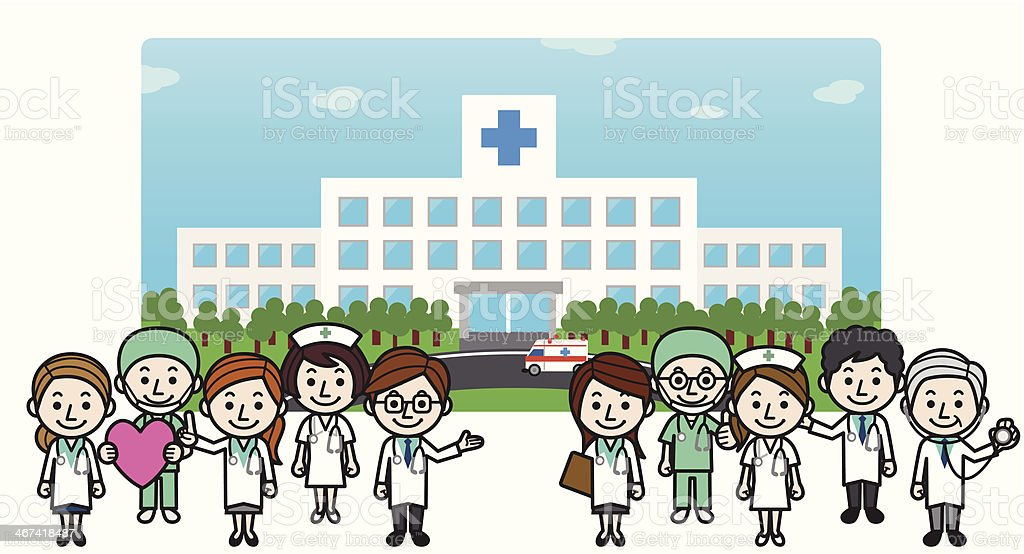 Health care workers & Hospital royalty-free stock vector art