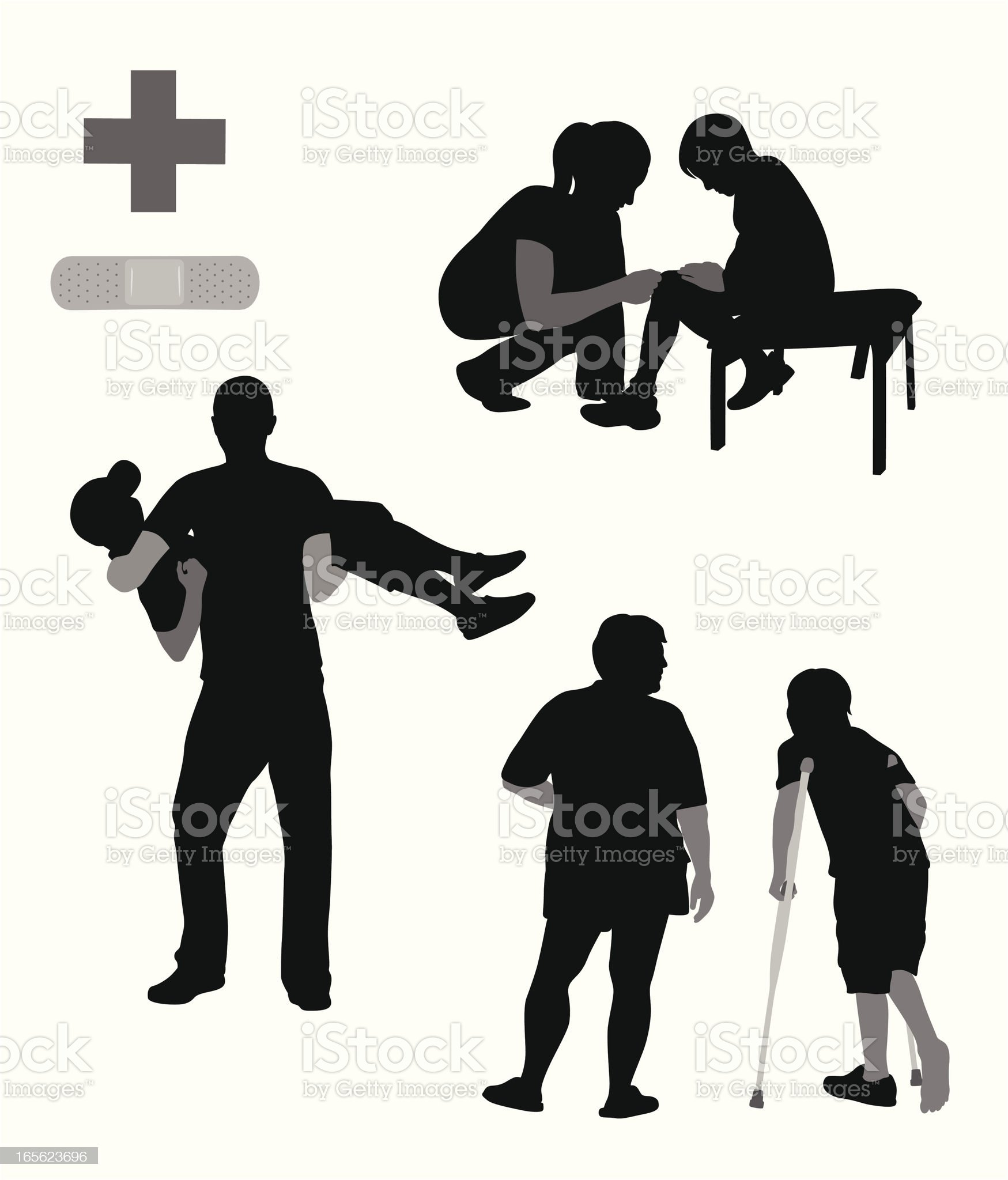Health Caring Vector Silhouette royalty-free stock vector art