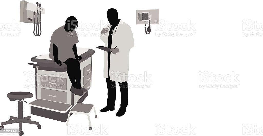 Health Checklist vector art illustration