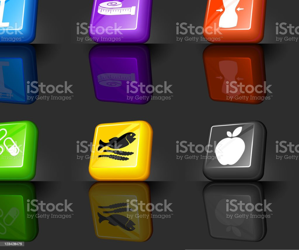 health diet and fitness internet royalty free vector icon set royalty-free stock vector art