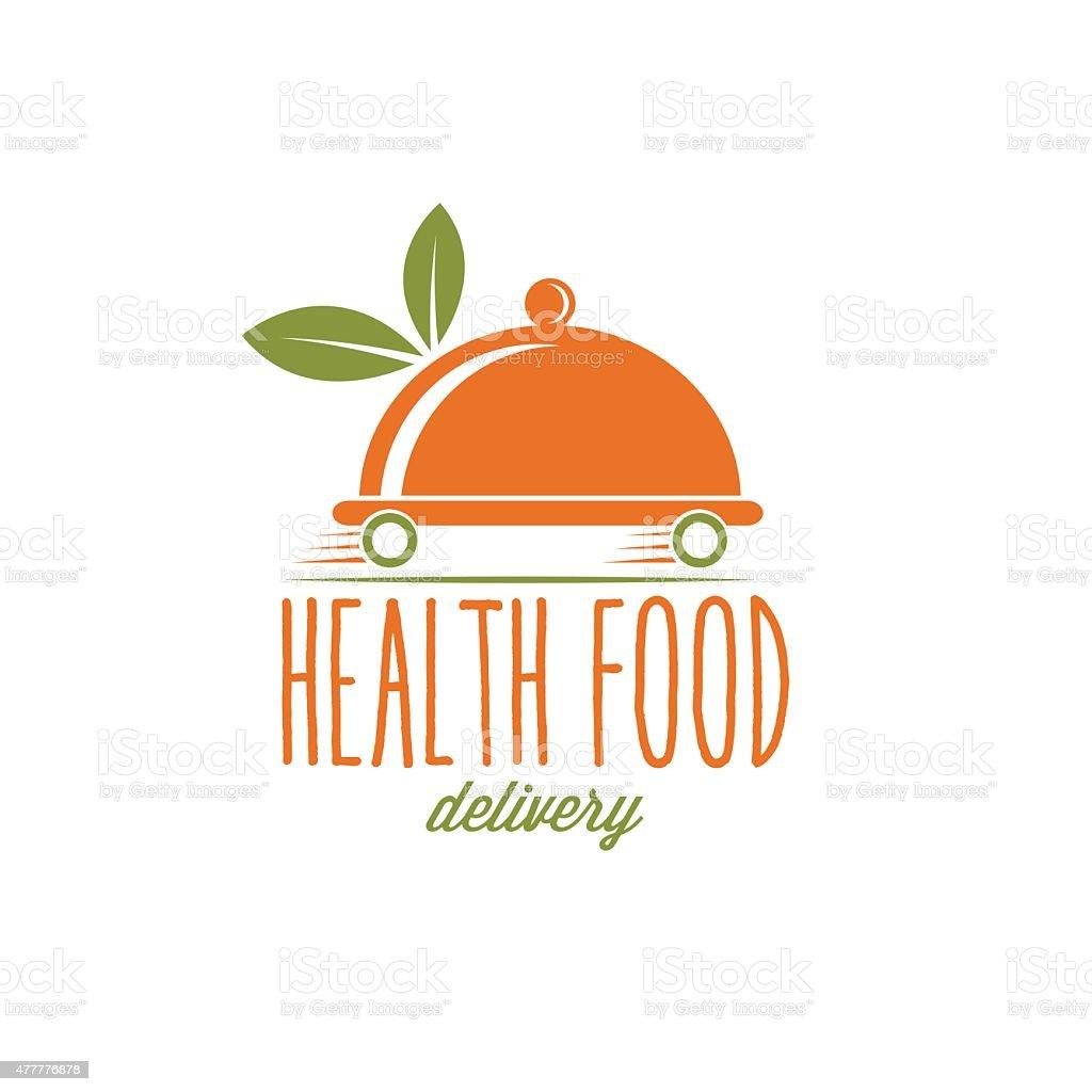 health food delivery vector art illustration