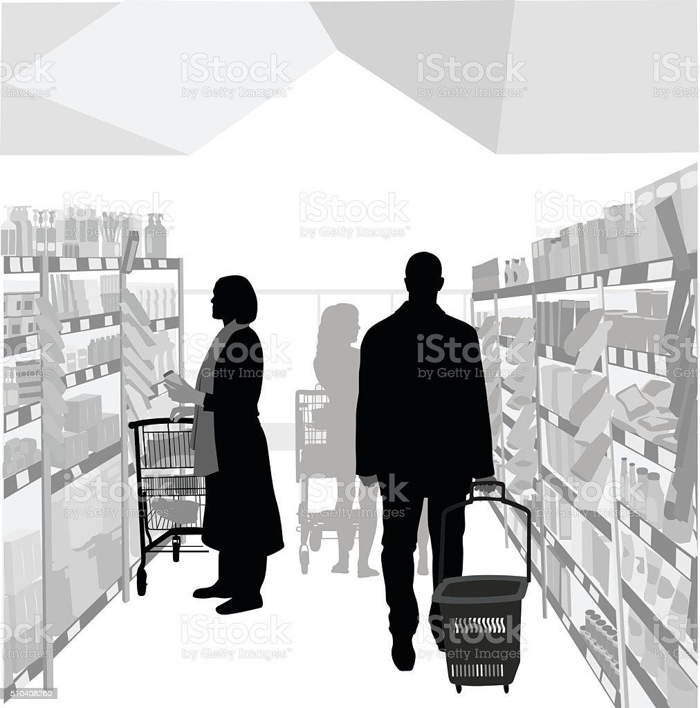 Health Food Store vector art illustration