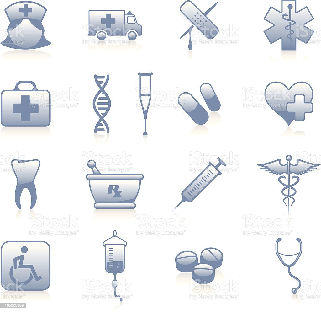 Health Icons - Blue royalty-free stock vector art