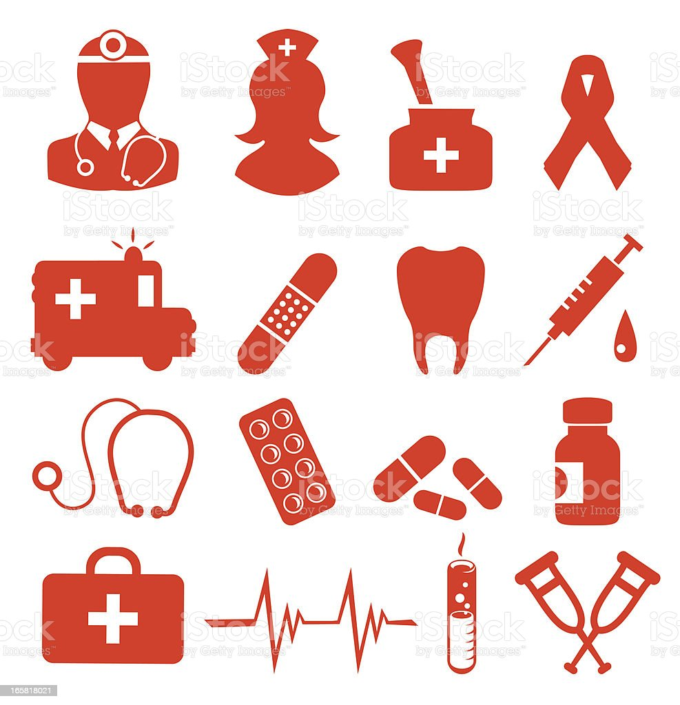 Health icons royalty-free stock vector art