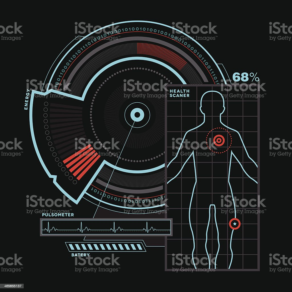 Health Infographic royalty-free stock vector art