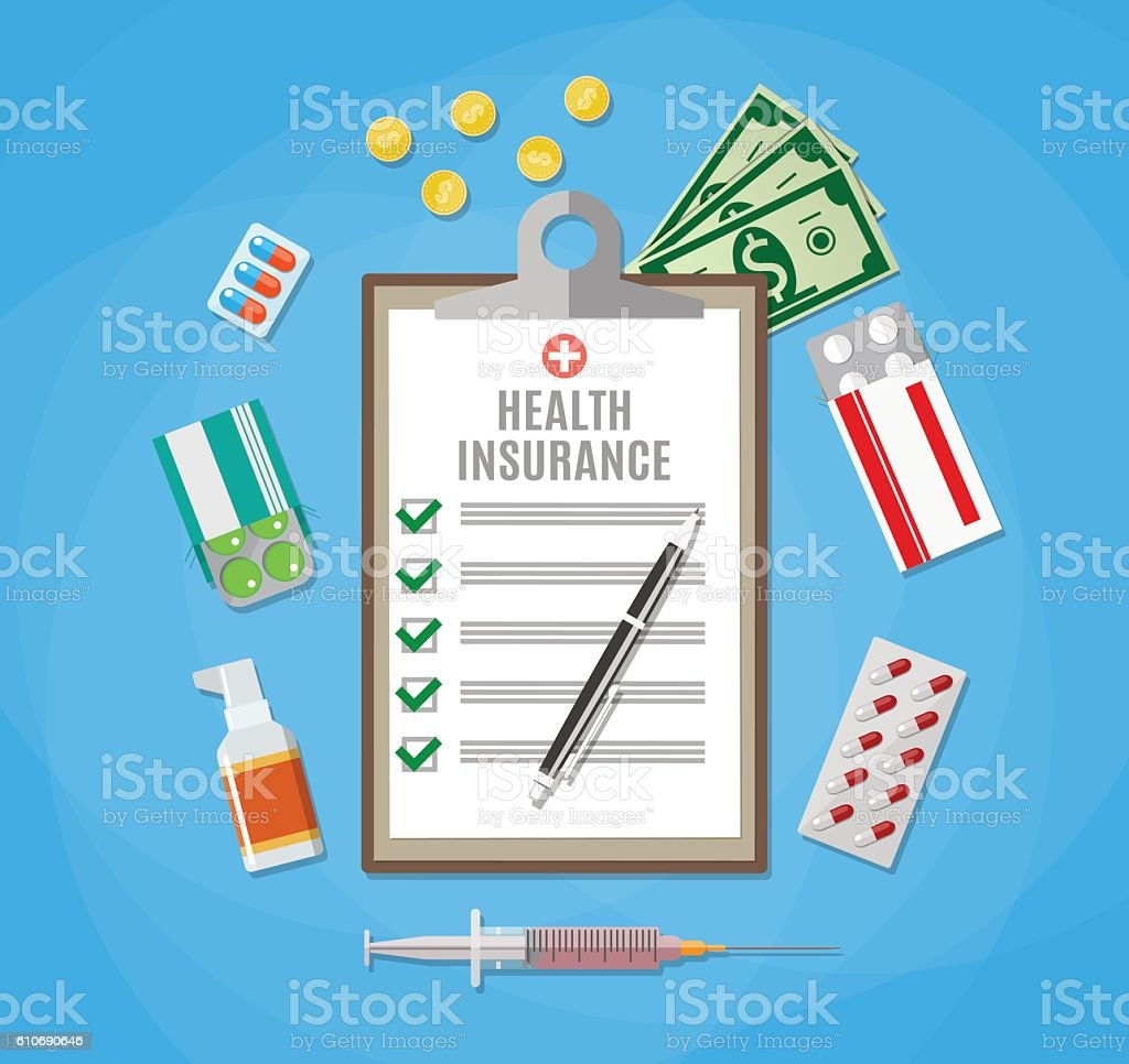 health insurance clip art vector images amp illustrations