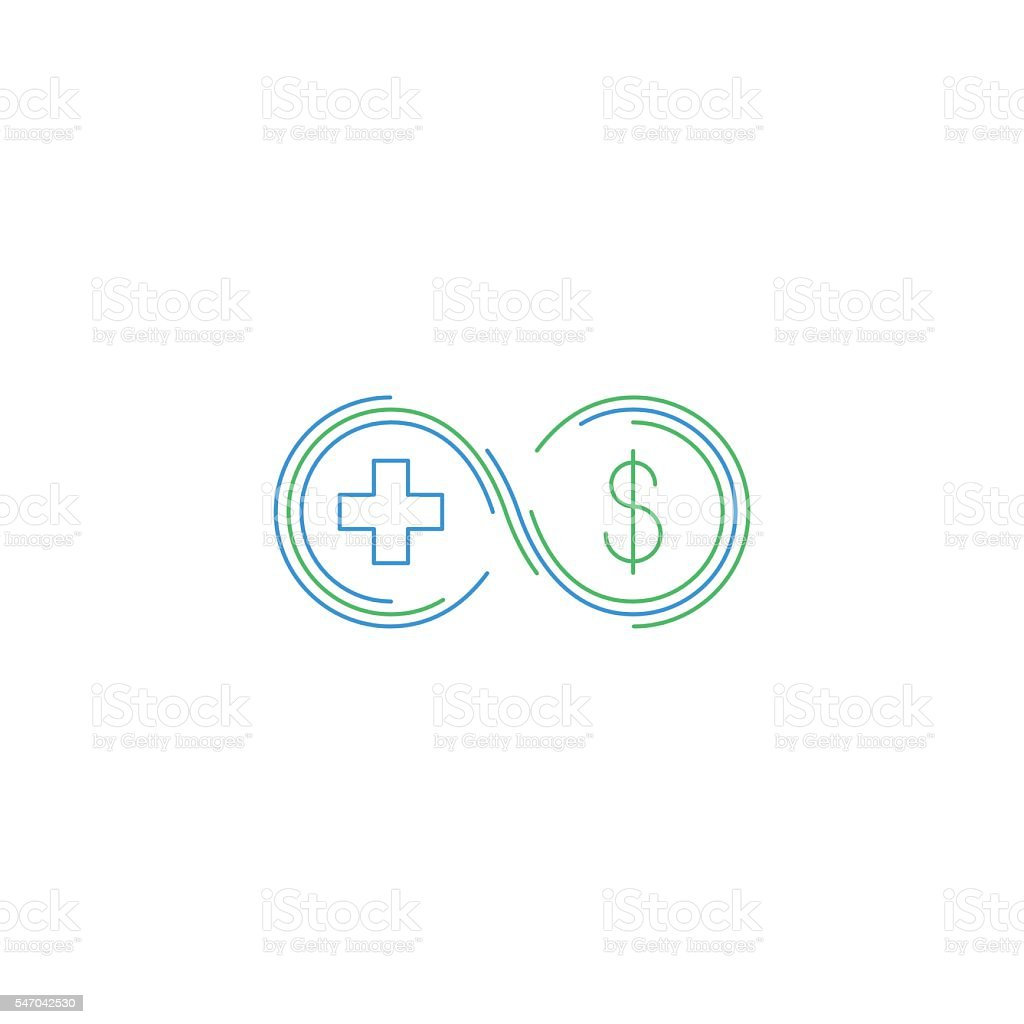 Health insurance, healthcare concept, medical check up vector art illustration
