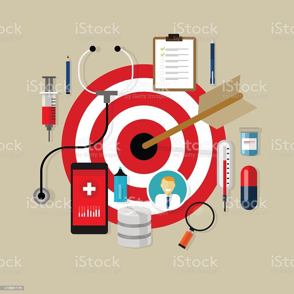 health medication target effective drug obama care vector art illustration