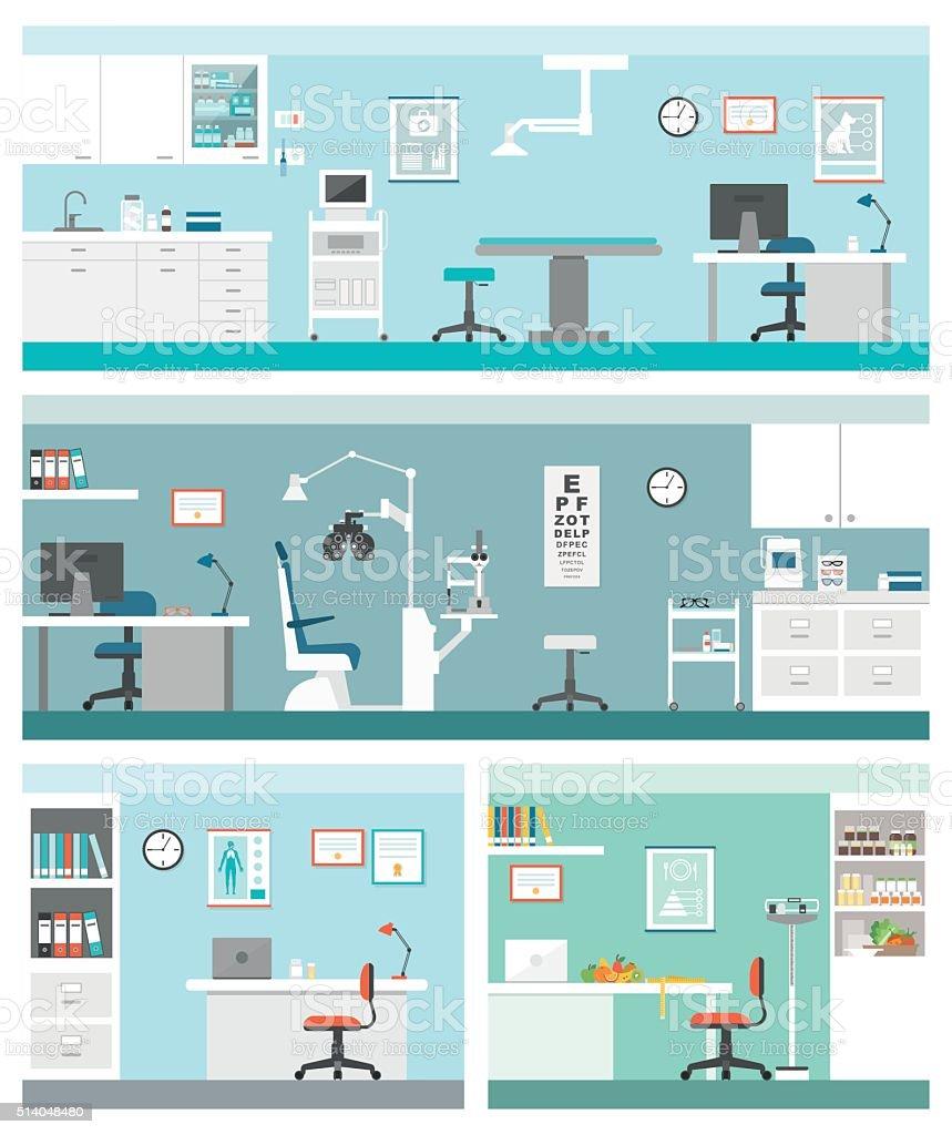 Healthcare and clinics vector art illustration