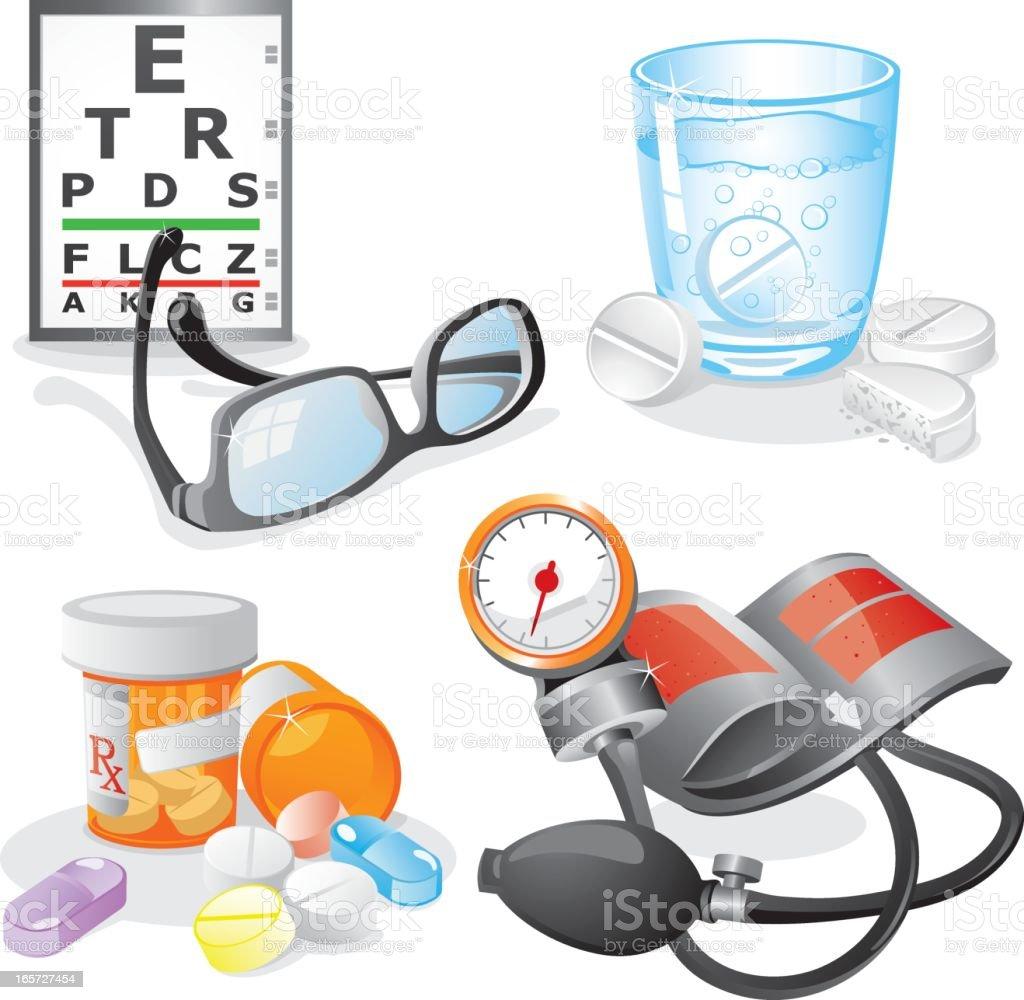 Healthcare and Medicine Design Elements vector art illustration