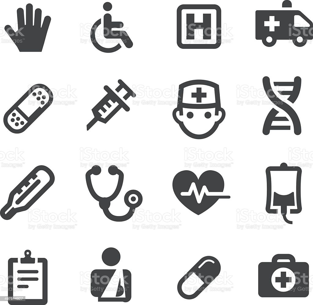 Healthcare and Medicine Icons - Acme Series vector art illustration