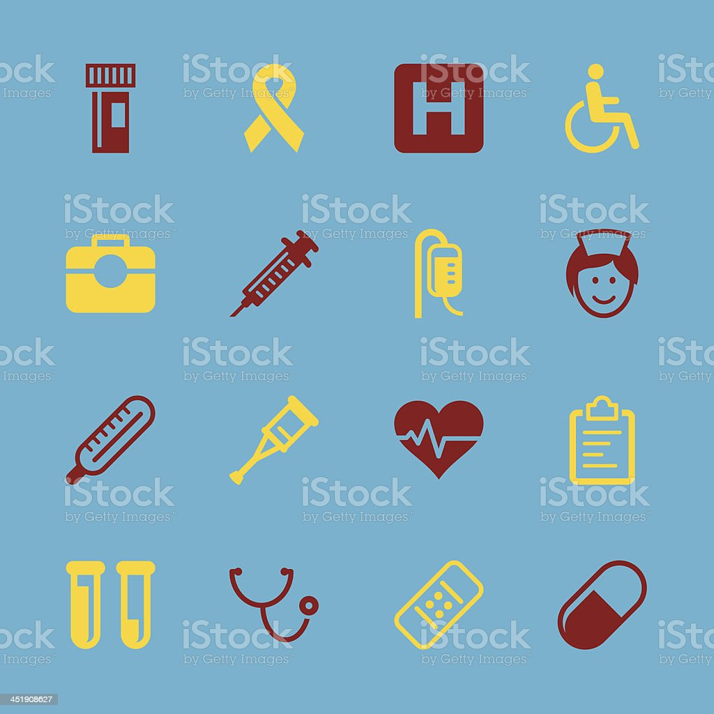 Healthcare and Medicine Icons - Color Series | EPS10 royalty-free stock vector art