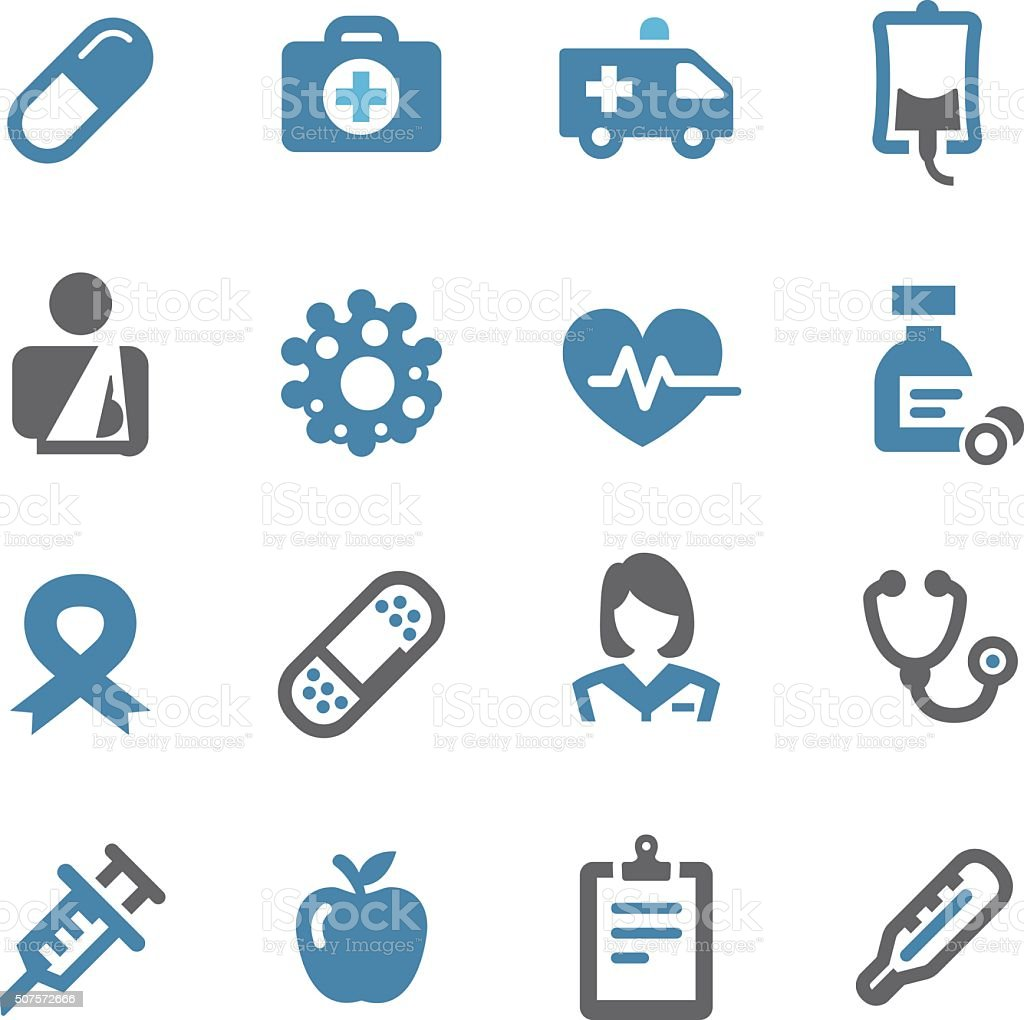 Healthcare and Medicine Icons - Conc Series vector art illustration