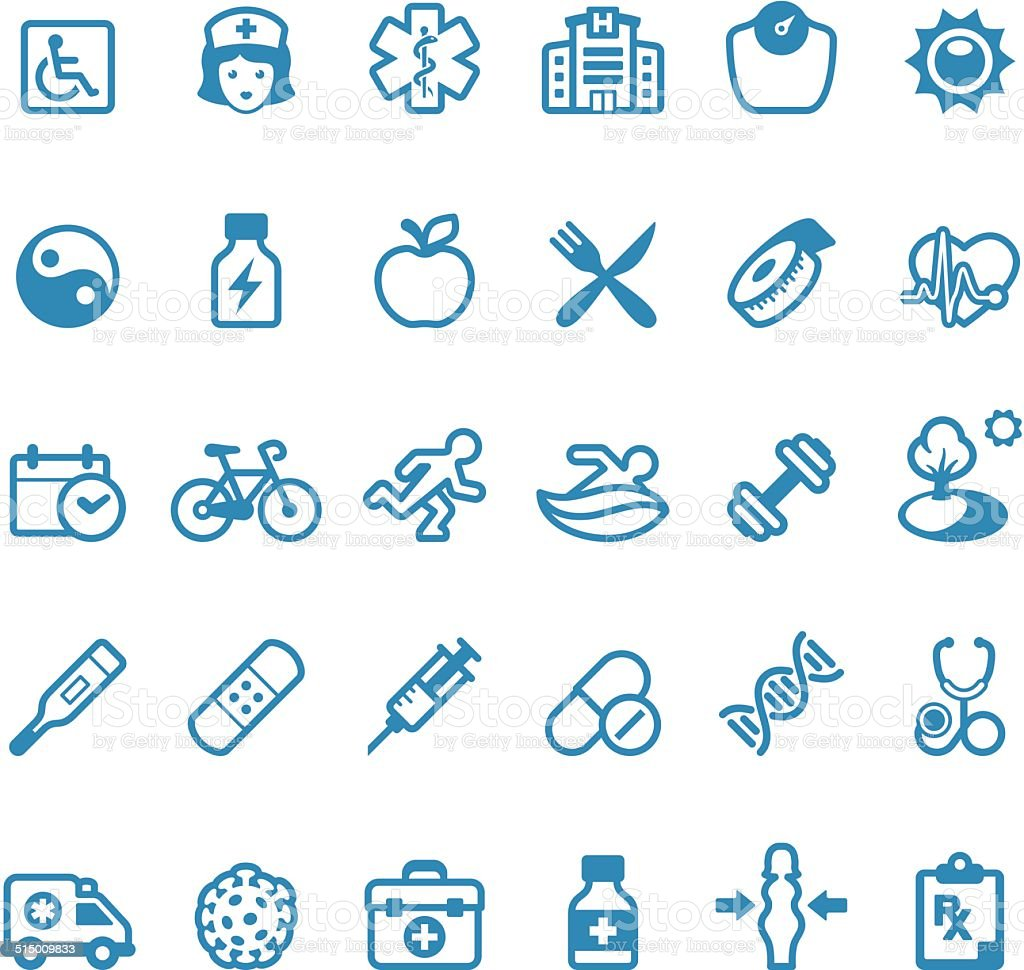 Healthcare And Medicine icons / Linico series vector art illustration