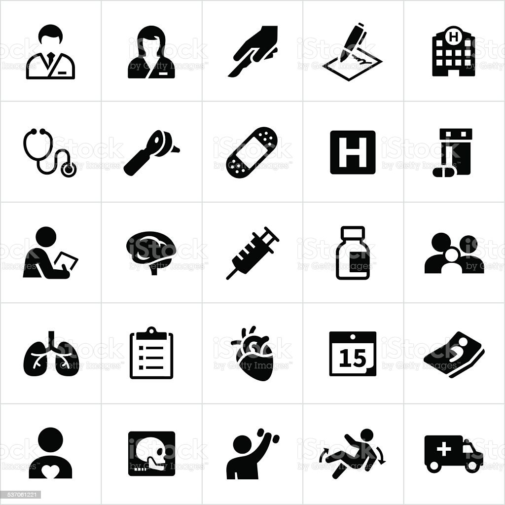 Healthcare and Medicine Icons vector art illustration