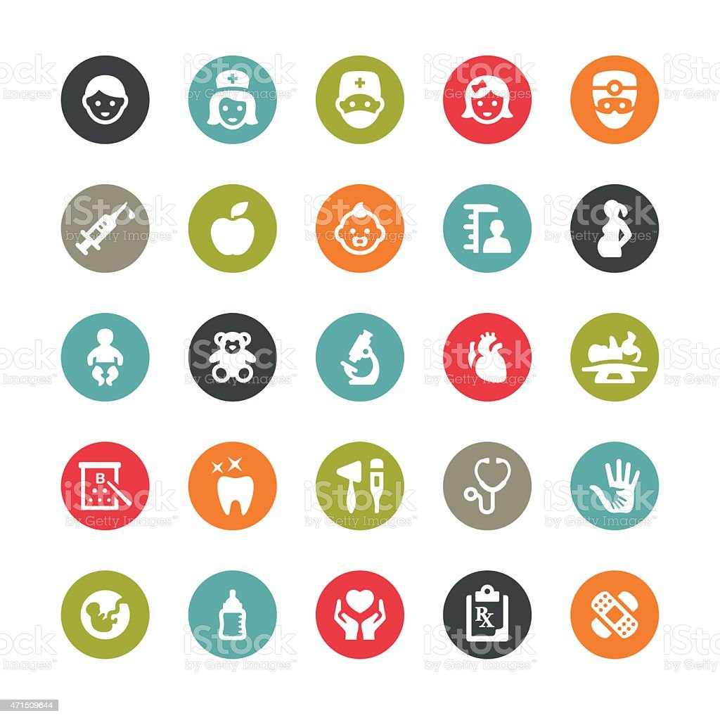 Healthcare and Medicine related vector icons / Ringico series vector art illustration