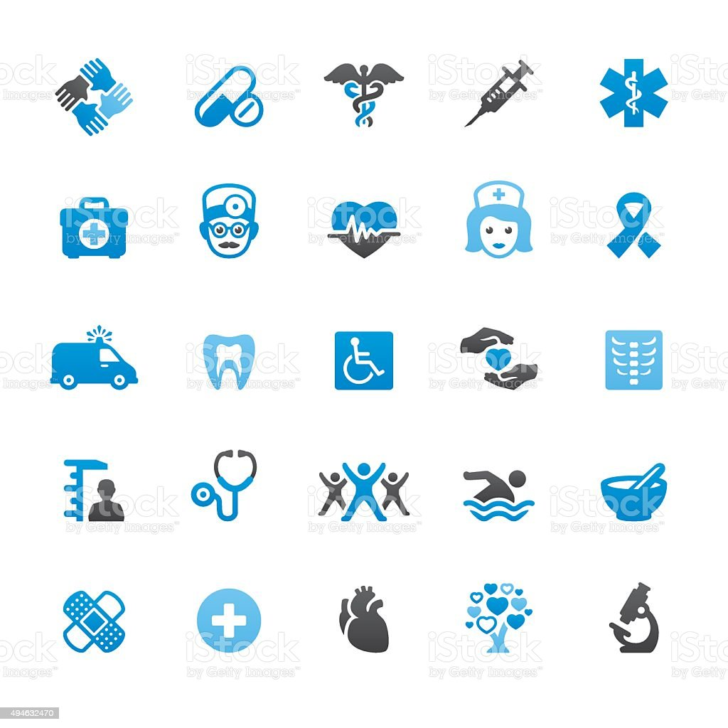 Healthcare and Medicine related vector icons vector art illustration