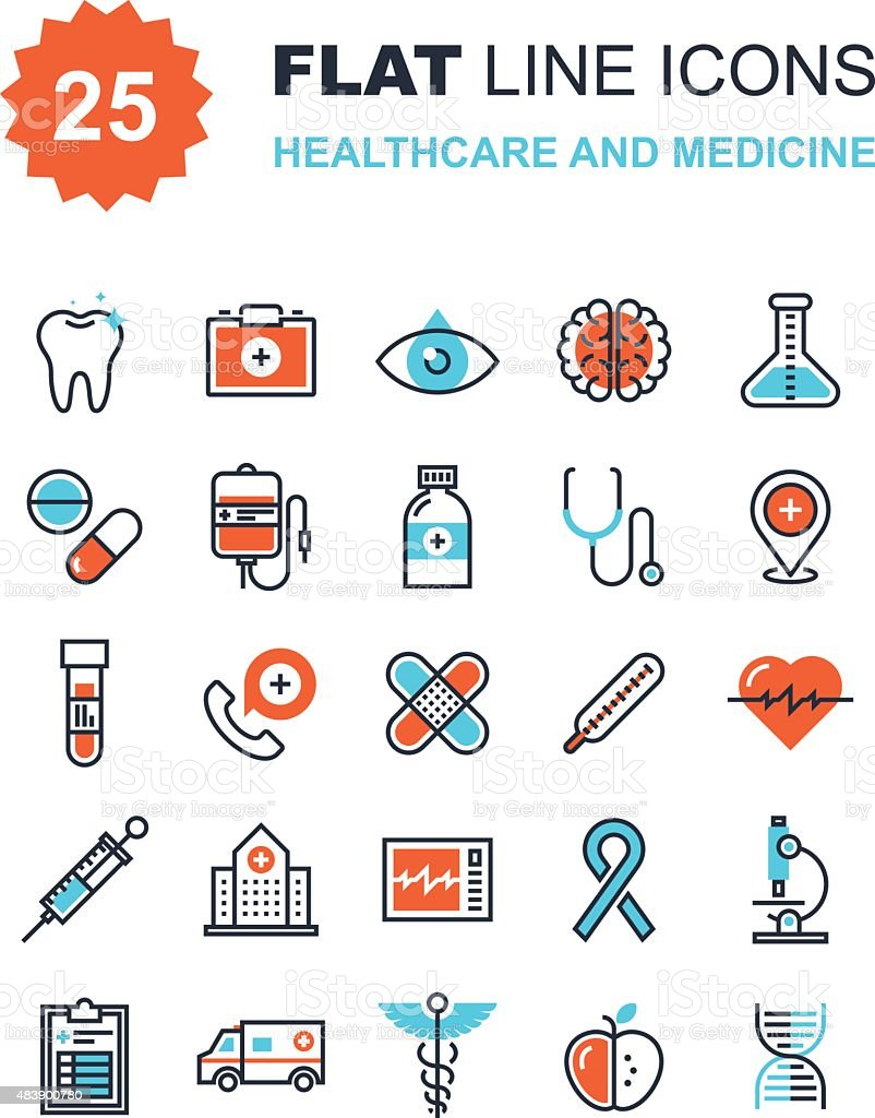 Healthcare and Medicine vector art illustration