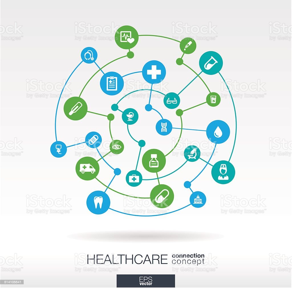 Healthcare connection concept vector art illustration