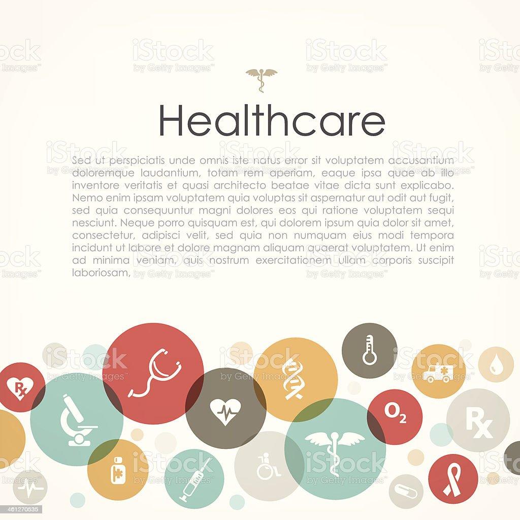 Healthcare copyspace vector art illustration